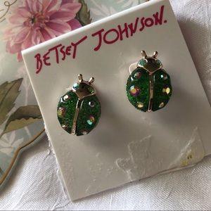 🆕Betsey Johnson LadyBug Stud Earrings